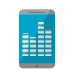 Smartphone screen equalizer music vector