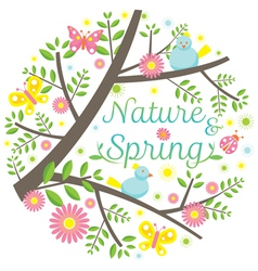 Spring Season Icons Heading vector image