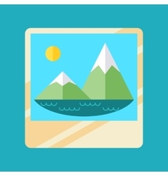 Trandy album icon with embedded picture inside vector image