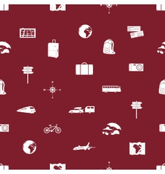 Travelling icons seamless pattern eps10 vector