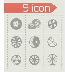 Wheel icon set vector