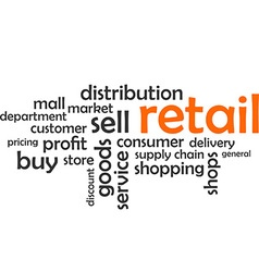 Word cloud retail vector