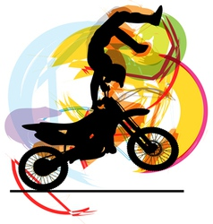 biker in action vector image