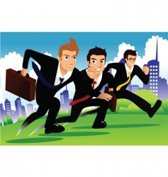 Business run vector