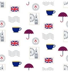 British symbols seamless pattern vector