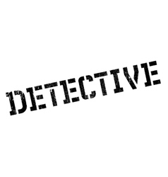 Detective rubber stamp vector