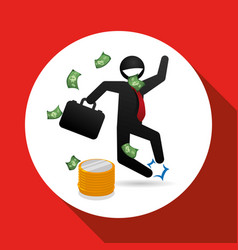 Profit design business icon white background vector