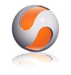 ico ball orange vector image