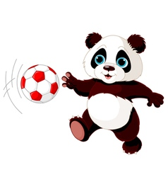 Panda hits the ball vector image