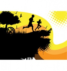 Running people vector