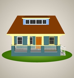 Front view house 3 vector