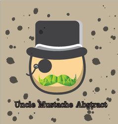 Uncle mustache abstract vector