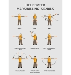 Helicopter marshalling signals vector