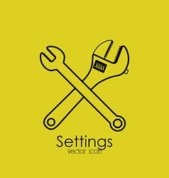 Settings design vector