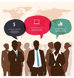 Business meeting with speech bubble infographic vector
