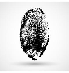 Fingerprint isolated on white vector image