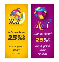 Holi banners design vector