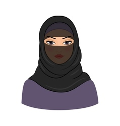 Arabic muslim woman vector