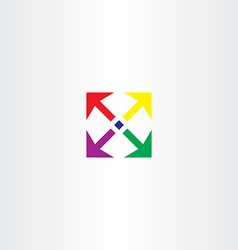 Arrows square icon colorful design element vector