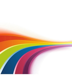 Bright rainbow swoosh lines background vector image
