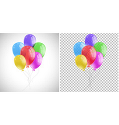 colorful balloons in one bunch vector image