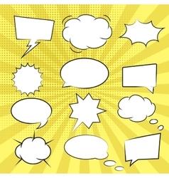 Comic book speech bubbles vector image vector image