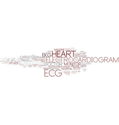 Ecg word cloud concept vector