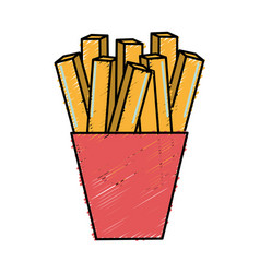 Fast food fries french meal vector