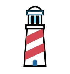 Flat lighthouse icon vector