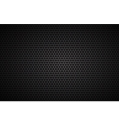Geometric polygons background black metallic vector image