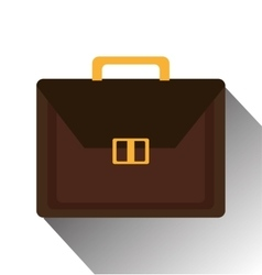 Isolated business briefcase icon vector image
