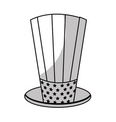 Line usa hat to patritism celebration design vector