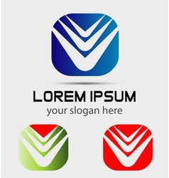Modern abstract logo template icon Editable vector image
