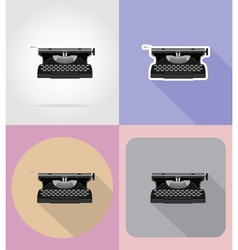 Multimedia flat icons 15 vector