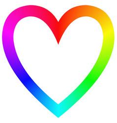 Rainbow gradient happy heart icon template vector image