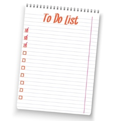 Realistic to do list spiral notebook white notepad vector image vector image