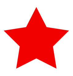 Red star flat icon vector