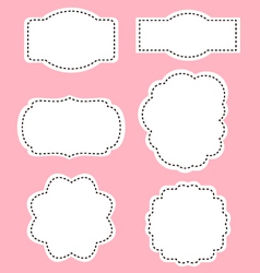 Romance white labels on pink background vector image vector image