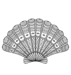 Seashell coloring vector