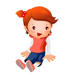 Side view of girl vector image