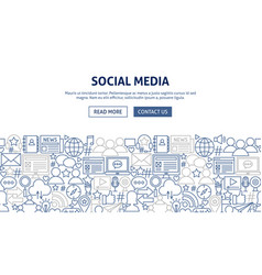 social media banner design vector image