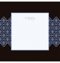 square pattern and frame vector image vector image