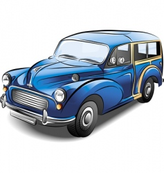 station wagon car vector image vector image