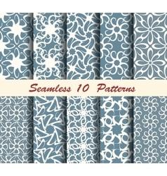 Ten abstract seamless patterns vector