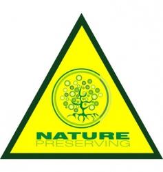 Tree preservation icon vector