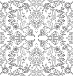 Tile oriental floral seamless doodle ethnic patter vector