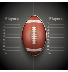 Poster Template of American Football Ball vector image