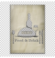 Food and drink menu stencil from old paper vector