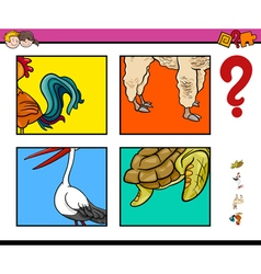 activity game with animals vector image