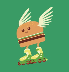 burger hot delivery vector image